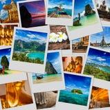 Collage delle immagini della Tailandia Fotografie Stock Libere da Diritti