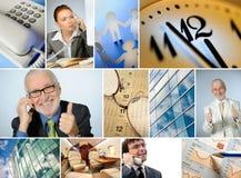 Collage delle immagini di affari Fotografia Stock
