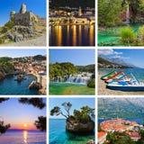 Collage delle immagini di corsa del Croatia Fotografia Stock Libera da Diritti