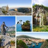 Collage delle immagini di corsa del Croatia Immagine Stock