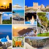 Collage delle immagini di corsa della Grecia Fotografia Stock Libera da Diritti