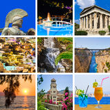 Collage delle immagini di corsa della Grecia Immagini Stock Libere da Diritti