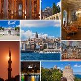 Collage delle immagini di Costantinopoli Turchia Fotografia Stock