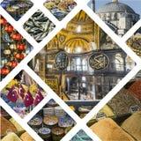 Collage delle immagini di Costantinopoli (Turchia) - fondo di viaggio (il mio pH Fotografia Stock Libera da Diritti
