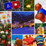 Collage delle immagini di natale Fotografia Stock Libera da Diritti