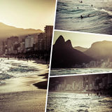 Collage delle immagini di Rio de Janeiro Brazil - fondo m. di viaggio Fotografia Stock Libera da Diritti