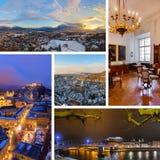 Collage delle immagini di Salisburgo Austria Immagini Stock Libere da Diritti