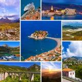 Collage delle immagini di viaggio del Montenegro Fotografie Stock Libere da Diritti