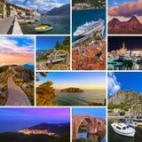Collage delle immagini di viaggio del Montenegro (le mie foto) Fotografie Stock Libere da Diritti