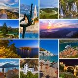 Collage delle immagini di viaggio del Montenegro (le mie foto) Immagine Stock