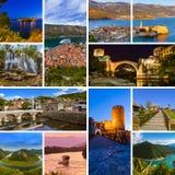 Collage delle immagini di viaggio del Montenegro (le mie foto) Fotografia Stock