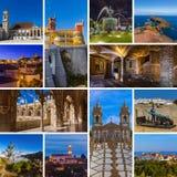 Collage delle immagini di viaggio del Portogallo le mie foto Immagine Stock Libera da Diritti
