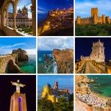 Collage delle immagini di viaggio del Portogallo le mie foto Fotografia Stock Libera da Diritti