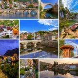 Collage delle immagini di viaggio della Bosnia-Erzegovina (le mie foto) Immagine Stock Libera da Diritti