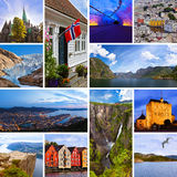 Collage delle immagini di viaggio della Norvegia (le mie foto) Fotografia Stock Libera da Diritti