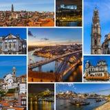 Collage delle immagini di viaggio di Oporto Portogallo & di x28; il mio photos& x29; Immagine Stock