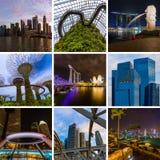 Collage delle immagini di viaggio di Singapore le mie foto Immagini Stock Libere da Diritti
