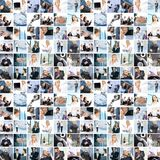 Collage delle immagini differenti di affari Immagini Stock Libere da Diritti