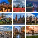 Collage delle immagini olandesi di viaggio le mie foto Fotografia Stock