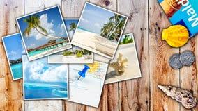 Collage delle immagini tropicali di paradiso Fotografia Stock Libera da Diritti