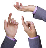 Collage delle mani della donna di affari Immagine Stock Libera da Diritti