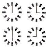 Collage delle manopole di orologio fotografie stock libere da diritti