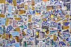 Collage delle mattonelle fotografia stock