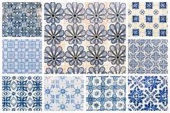 Collage delle mattonelle portoghesi fotografie stock libere da diritti