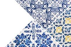 Collage delle mattonelle portoghesi fotografia stock