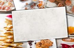 Collage delle mele e dei biscotti di Natale Immagini Stock
