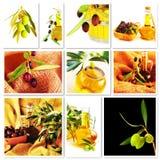 Collage delle olive Immagine Stock