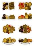 Collage delle olive Fotografie Stock Libere da Diritti
