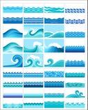 Collage delle onde Fotografia Stock Libera da Diritti