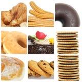 Collage delle pasticcerie Fotografie Stock Libere da Diritti