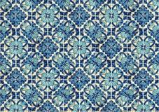 Collage delle piastrelle di ceramica dal Portogallo Fotografie Stock