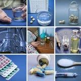 Collage delle pillole Medicina e salute Immagini Stock Libere da Diritti