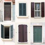 Collage delle porte e delle finestre Immagini Stock Libere da Diritti