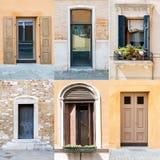 Collage delle porte e delle finestre Immagine Stock