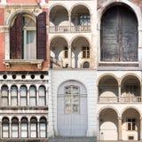 Collage delle porte e delle finestre Fotografia Stock Libera da Diritti