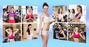 Collage delle ragazze graziose Immagini Stock Libere da Diritti