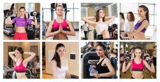 Collage delle ragazze graziose Fotografia Stock