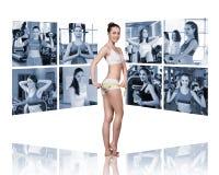 Collage delle ragazze graziose Immagine Stock Libera da Diritti