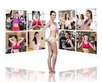 Collage delle ragazze graziose Fotografie Stock Libere da Diritti