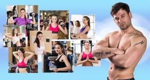Collage delle ragazze graziose e di giovane tipo Immagini Stock