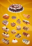 Collage delle torte Fotografie Stock