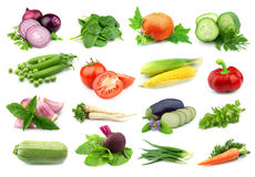 Collage delle verdure Fotografia Stock