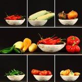 Collage delle verdure di autunno Immagine Stock