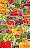 Collage delle verdure e delle frutta Immagine Stock Libera da Diritti