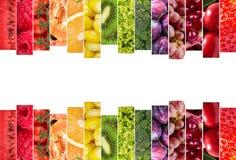 Collage delle verdure e delle frutta Fotografia Stock Libera da Diritti
