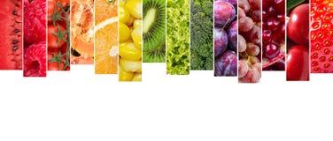 Collage delle verdure e delle frutta Fotografia Stock